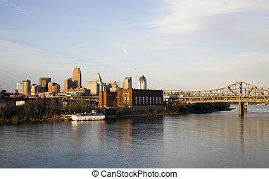 Cincinnati seen from Kentucky