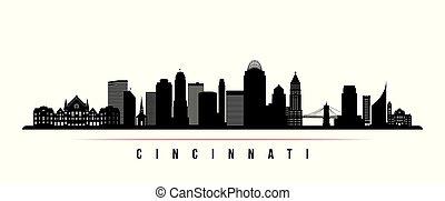 Cincinnati skyline horizontal banner.