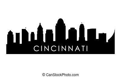 Cincinnati skyline silhouette.