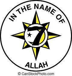 cinco, bandera, islam, porcentaje, nación