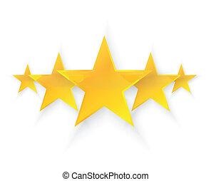 cinco, calidad, estrellas