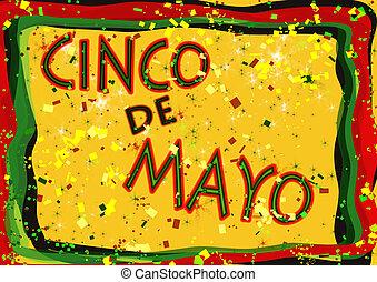 Cinco de Mayo celebration sign