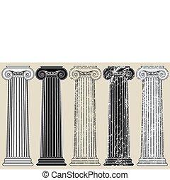 cinco, colunas