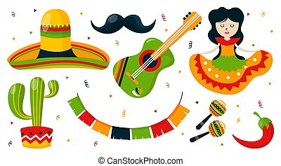 Cinco de mayo background illustration vector. Mexican event background illustration vector