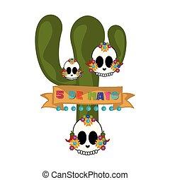 Cinco de mayo banner with a cactus