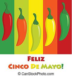 Cinco De Mayo! - Cinco de Mayo chili pepper greeting cards...