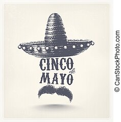 Cinco De Mayo, holiday poster, eps 10