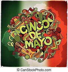 Cinco de Mayo colorful festive message