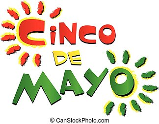 Cinco de Mayo Colorful Logo