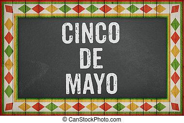 Cinco de Mayo, American Mexican holiday concept illustration