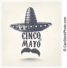 Cinco De Mayo, holiday poster, eps 10