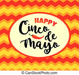 Cinco de Mayo. illustration with traditional Mexican symbols. Design element for poster, banner, flyer, card.