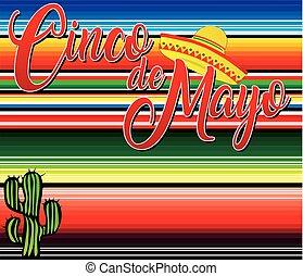 Cinco de Mayo Mexican Blanket Background
