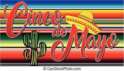 Cinco de Mayo Mexican Blanket Template
