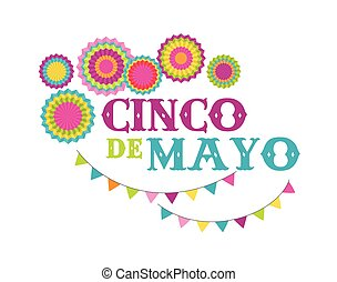 Cinco de mayo, Mexican fiesta banner and poster design with...