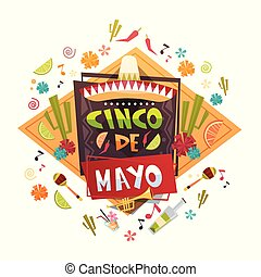 Mexican holiday card for cinco de mayo design mexican holiday cinco de mayo mexican holiday greeting card decoration poster design m4hsunfo