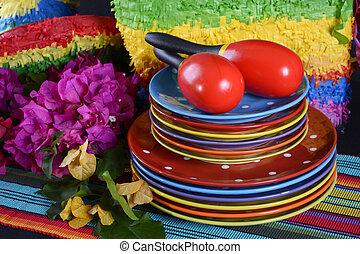 Cinco de Mayo Party Table. - Colorful Happy Cinco de Mayo...