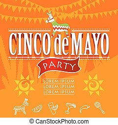 cinco de mayo party with donkey.