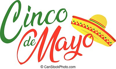 Cinco de Mayo Script with Sombrero