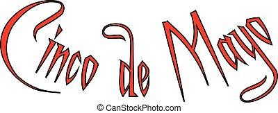 Cinco de Mayo tezt sign illustration