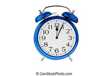 cinco, decision., meia-noite, minutos, tempo