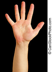cinco, dedos