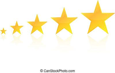 cinco, estrela, avaliação