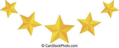 cinco, estrela