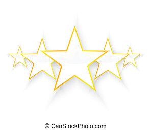 cinco, estrelas, qualidade