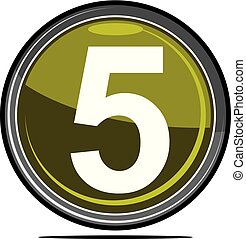 cinco, logotipo, desenho, modelo, vetorial