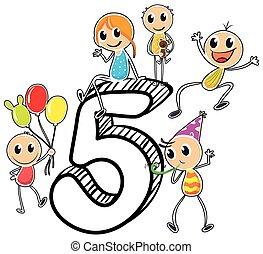 cinco, número