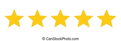 cinco, rating., estrelas