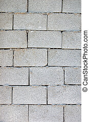 Cinder block brick wall texture background pattern.