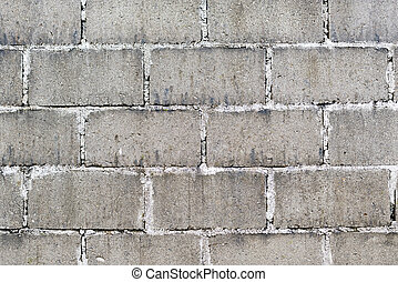 Cinder Block Wall - Old wall made from cinder blocks as...