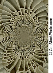 Cinder blocks in a circular warp