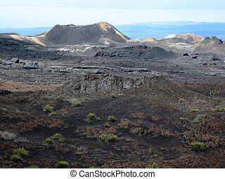 Cinder Cone on Sierra Negra - A cinder cone is visible in...
