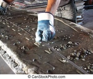cinder panel making