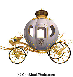 Cinderella Cariage - 3D digital render of a beautiful...