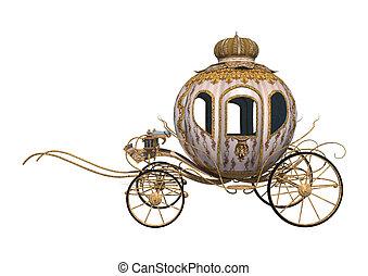 Cinderella Carriage - 3D digital render of a fairytale...