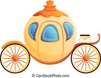 Cinderella carriage ,cartoon style