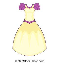 Cinderella dress icon, cartoon style