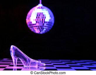 Cinderella - Glass Slipper With Disco Ball in Background, ...