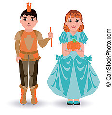 Cinderella princess with pumpkin