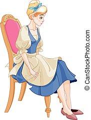 Cinderella Ready to Wear the Glass Slipper