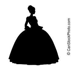 Cinderella Silhouette Illustration - Cinderella illustration...