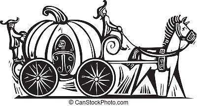 Cinderella's Carriage - Fairytale Cinderella in Pumpkin...