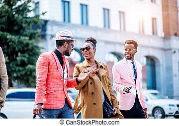 cine, después, gente, agradable, yendo, africano, emocional, discutir, película
