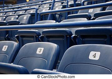 cine, o, asientos del estadio