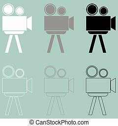 Cine projector or filmprojector icon.