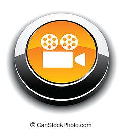 Cinema 3d round button.